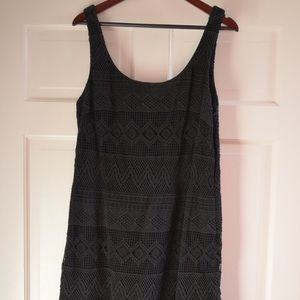 J.CREW Black Crochet Summer Dress Size 16